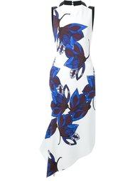 платье с открытой спиной и цветочным узором Manning Cartell