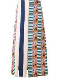 юбка А-образного силуэта с узором 'American football' Tata Naka