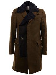 пальто со смещенной застежкой  Sacai