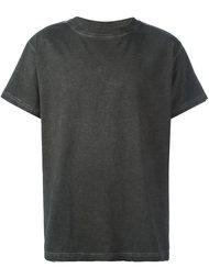футболка с принтом в полоску на спине Off-White