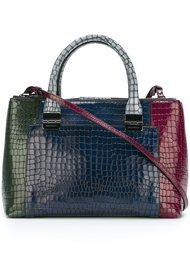сумка на плечо с эффектом крокодиловой кожи Emporio Armani