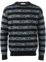 свитер с принтом логотипа Moschino