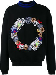 embroidered sweatshirt James Long