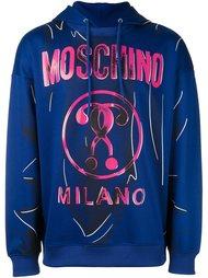 толстовка с капюшоном   Moschino
