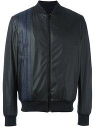 куртка бомбер с отделкой в полоску MSGM