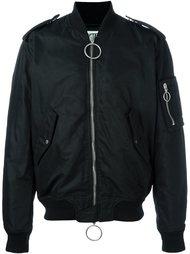 куртка-бомбер с полосками на спине Off-White