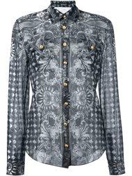 рубашка с барочным узором Balmain