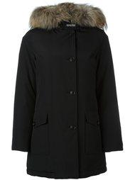 пальто с меховой отделкой  Woolrich