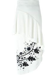 асимметричная юбка с рюшами Peter Pilotto