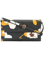 сумка через плечо с цветочным принтом  Marni