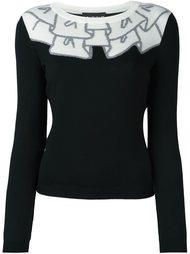 трикотажный свитер с принтом Boutique Moschino