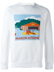 футболка с длинными рукавами  Maison Kitsuné