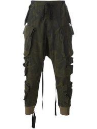 camouflage print parachute pants Unravel