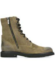 ботинки на молнии с декоративной шнуровке Tod's