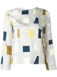 блузка с абстрактным принтом  Erika Cavallini