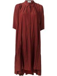 платье с оборками  Lanvin