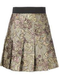 юбка с цветочной вышивкой Dolce & Gabbana