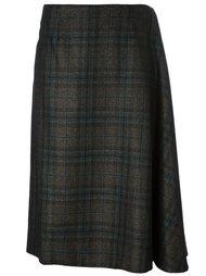 асимметричная твидовая юбка Maison Margiela