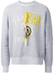 contrast print sweatshirt Doublet