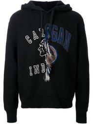 contrast print hoodie Doublet