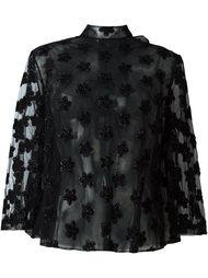 полупрозрачная блузка с цветочной аппликацией Simone Rocha