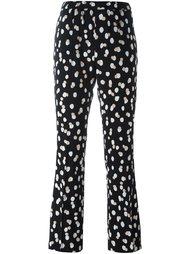 расклешенные брюки с пятнистым принтом Altuzarra
