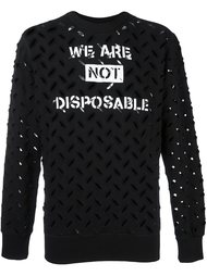 'We are not disposable' sweatshirt  Vivienne Westwood Anglomania