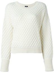 свитер с геометрическим узором Jil Sander Navy