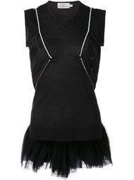 tulle embellished tank top Preen By Thornton Bregazzi