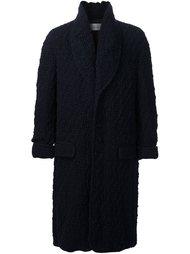 woven single breasted coat Julien David