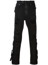 destroyed effect skinny jeans Unravel