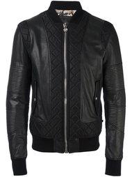 кожаная куртка бомбер Philipp Plein