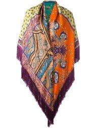 шарф с принтом пейсли и бахромой Etro