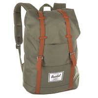 Рюкзак городской Herschel Retreat Deep Lichen Green/Tan Synthetic Leather
