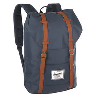 Рюкзак городской Herschel Retreat Navy/Tan Synthetic Leather
