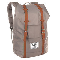 Рюкзак туристический Herschel Retreat Grey/Tan Synthetic Leather