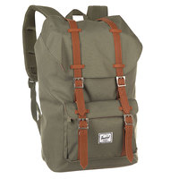 Рюкзак туристический Herschel Little America Deep Lichen Green/Tan Synthetic Leather