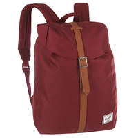 Рюкзак городской Herschel Post Mid Volume Windsor Wine/Tan Synthetic Leather