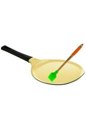 Блинная сковорода с кисточкой Frybest