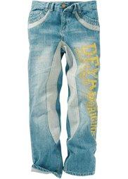 Потертые джинсы с принтом, стандартный («грязный» деним) Bonprix