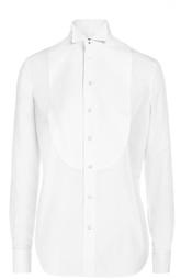 Приталенная хлопковая блуза с манишкой Ralph Lauren