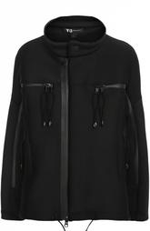 Куртка асимметричного кроя с воротником-стойкой Y-3
