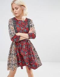 Платье с комбинированным принтом и рукавом 3/4 Millie Mackintosh