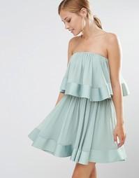 Платье мини c оборками Keepsake - Мятный