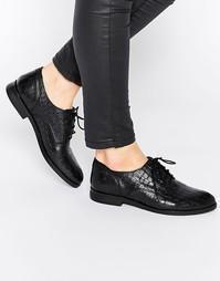 Кожаные туфли на шнуровке и плоской подошве Bronx - Черный