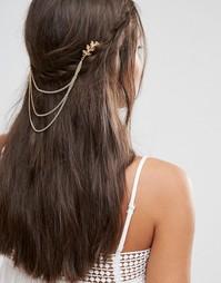 Цепочка на голову с листиками Missguided - Золотой