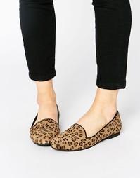 Замшевые слиперы Park Lane - Leopard
