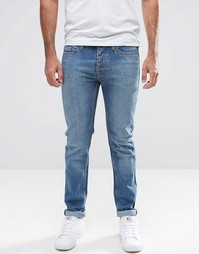 Темные джинсы в винтажном стиле с покрытием LDN DNM - Синий