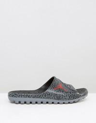 Черные шлепанцы Nike Air Jordan Superfly 842400-015 - Черный