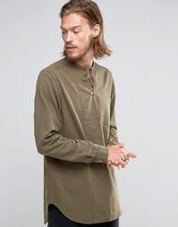 Зеленая джинсовая куртка классического кроя ASOS - Хаки